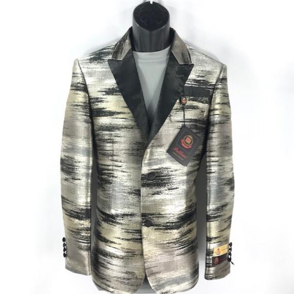 Pallini Suits & Blazers | Mens Pallini Sport Coat Blazer Black Silver Khaki  | Poshmark